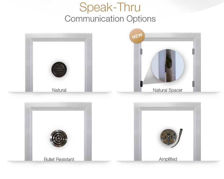Speak-Thru communication options with natural voice and bullet resistant.