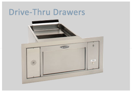Transaction Drawers specifically designed for Drive-Thru use to transfer small or large items. Our Transaction Drawers allow security to your personnel while providing ease-of-service to your customers. Choose from the various models.