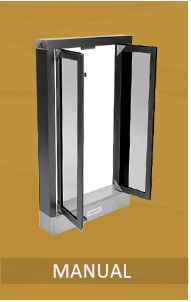 "Manually Operated Pass Thru Windows are unsurpassed in durability and performance. Drive Through Windows have been designed with simplicity in mind. Shipped Fully Assembled and Ready to Install. 1/4"" tempered safety glass. Florida Building Code Approval."