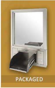 Packaged Drive Thru Window Systems  Pre-designed drive thru combination window/drawer/intercom unit. Perfect for the pharmacy, recycle station or other point of sale.
