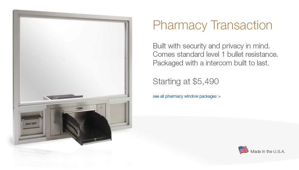 Featured pharmacy window starting at $5,490