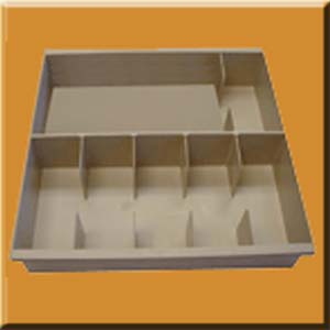 5601 Six Compartment Teller Cash Styrene Cash Tray