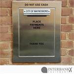 Envelope Payment Box Installed on Brick Wall