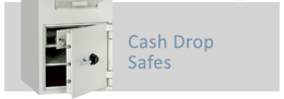 Often called cash drop safes, these safes are designed to protect the collection of money, where immediate deposit is required without unlocking the safe or requiring a cashier to hold keys.