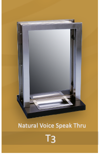 Transaction ticket window with natural speak thru, deal tray and available in bullet resistant glass