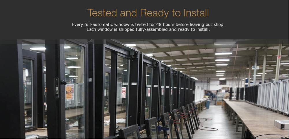 Building of drive-thru windows in a warehouse while testing