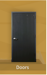 Bullet Resistant Door with level 1, level 2 or level 3 protection