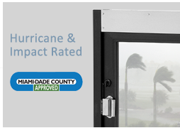HURRICANE and IMPACT RATED. Sliders that carry the Miami-Dade County Approval. Florida Building Code Approved (#FL-12643)