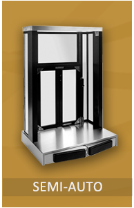 Semi-Automatic Windows open and close by a patented push-bar mechanism. Hands-free service allows your pass thru operation to be more efficient. A generous stainless steel staging area is offered on all semi-automatic drive thru windows.