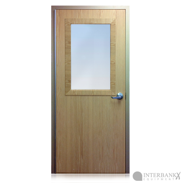 Bullet resistant solid core wood doors for Wood doors with windows