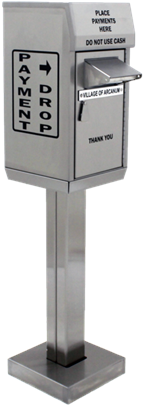Model 500-DOC Drive Up, On Concrete Payment Drop Box