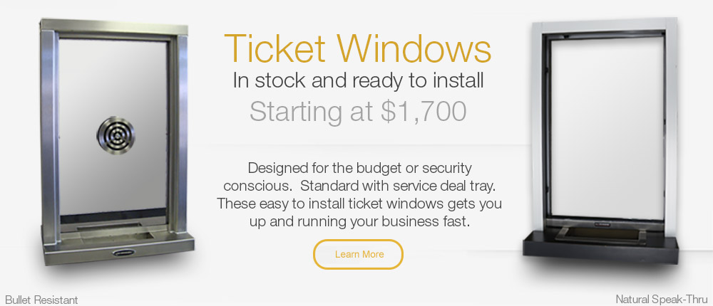 In-Stock Transaction Ticket Windows Starting at $1700